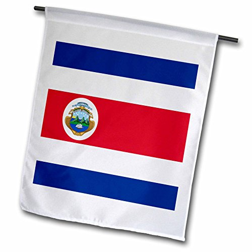 InspirationzStore Flags - Flag of Costa Rica - Central America - Costa Rican red white dark blue with Tico coat of arms ensign - 12 x 18 inch Garden Flag (fl_158298_1)