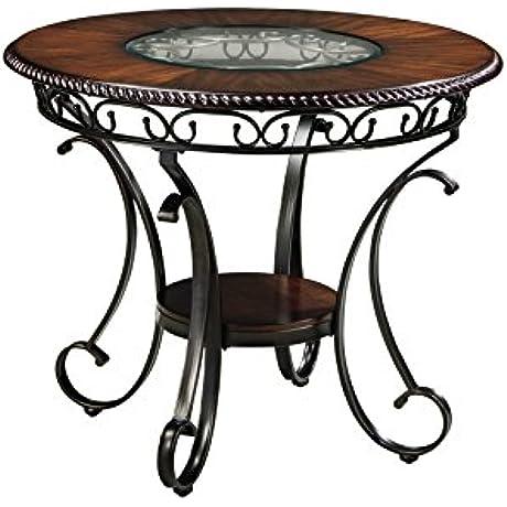 Ashley Furniture Signature Design Glambrey Dining Room Table Round Brown