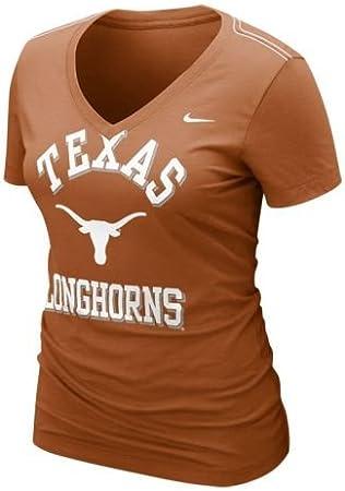 Nike Texas Longhorns Mujer cuya Que Cuello en V Camiseta, XL, Burnt Orange: Amazon.es: Deportes y aire libre