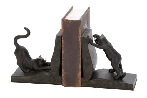 Polystone Cat Bookend Pair for Books Lovers-(44690) -