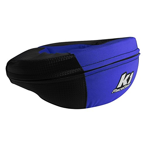 Neck Kart - K1 Race Gear Neck Protector Brace (Carbon/Blue, Junior)