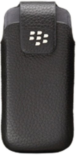 OEM BlackBerry 9100 Pearl Leather Belt Clip Holster - Black Blackberry Pearl Belt Clip