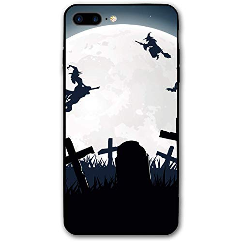 - CHUFZSD Halloween Witch Broom Silhouette Cemetery Lawn iPhone 7/8 Plus Case Soft Flexible TPU Anti Scratch Shock-Proof Protective Shell Compatible Phone Case Cover (5.5 Inch)