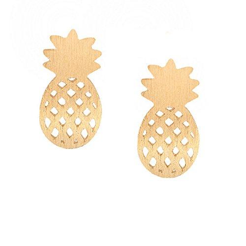 Tiny Pineapple Stud Earrings For Women Men Minimalist Decoration BFF Cute Jewelry Gift for Best Friend - - Minimalist Pineapple