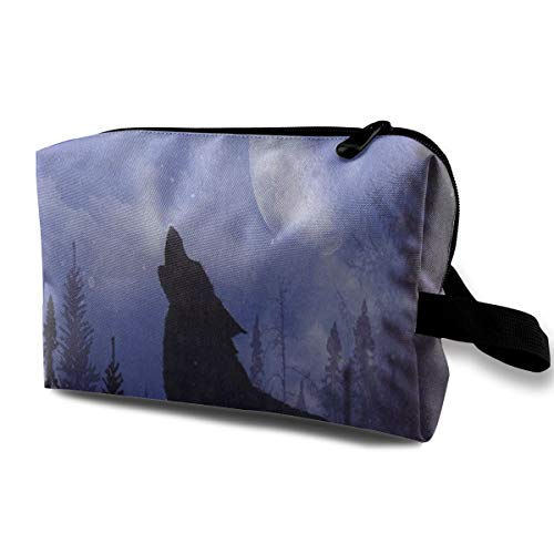 Receive Bag Custom Moon Night Forest Wolf Makeup