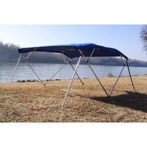 Vortex New Royal Blue Pontoon/Deck Boat 4 Bow Bimini Top 10' Long, 85-90