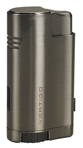 Vertigo Thunder Triple Torch Flame Lighter w/ Cigar Punch (Satin ()