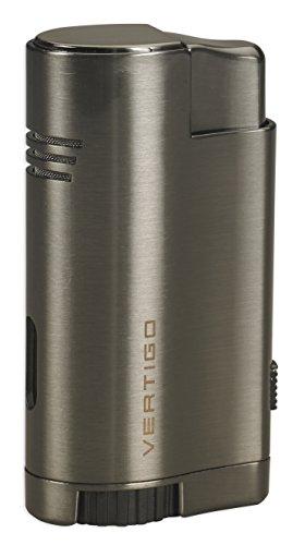 Vertigo Thunder Triple Torch Flame Lighter w/ Cigar Punch (Satin Gunmetal) ()