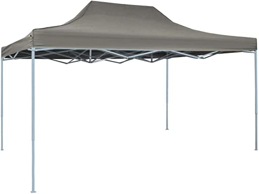 Festnight Carpa Pleglable Exterior 3x4,5 m para Jardin Gris Antracita: Amazon.es: Hogar