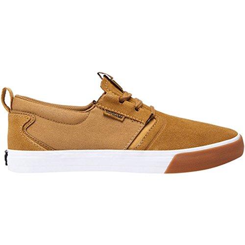 Supra Men's Flow Shoes,8.5,Tan/White-Gum ()