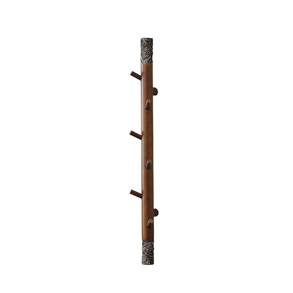 ZHHL Wall Coat Rack, Retro Wooden Coat Hooks Wood, Wall Hooks, Hanging Coats, Bags, Decorative Wall Mounted Design