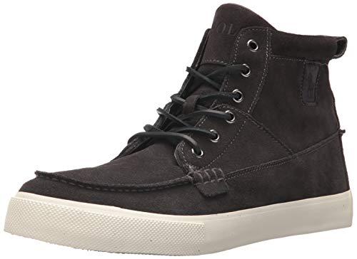 Polo Ralph Lauren Men's Tavis Sneaker, Charcoal, 8 D US