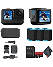 $574 » GoPro HERO10 (Hero 10) Black - Waterproof Action Camera with Front LCD and Touch Rear Screens, GP2 Engine, 5K HD Video, 23MP Photos, Live Streaming, 64GB Extreme Pro Card and 2 Extra Batteries