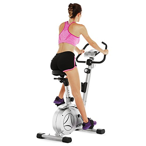 ANCHEER Upright Bike, Magnetic Exercise Bike (Sliver) Ancheer
