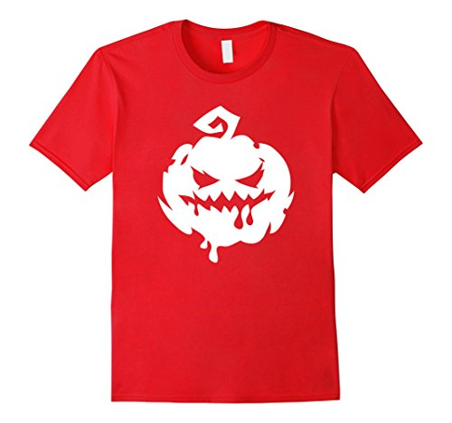 Mens Halloween Scary Pumpkin Face - Easy Halloween Costume Top 2XL Red
