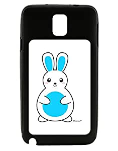 TooLoud Cute Easter Bunny - Blue Galaxy Note 3 Case