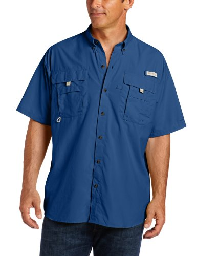 Columbia Men's Bahama II Short Sleeve Shirt, Night Tide, X-Large