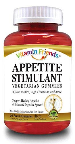 Vitamin Friends All Natural Appetite Stimulant Vegetarian Gummies, Orange, 36 Count