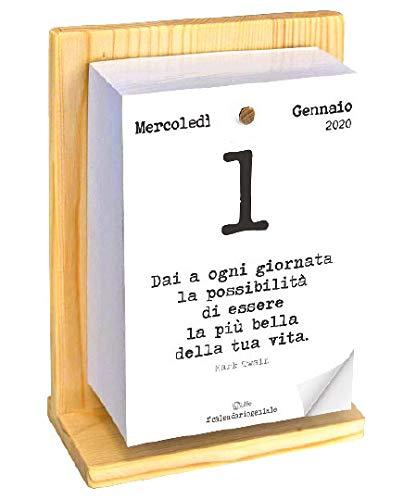 Calendario Geniale 2020 Con Supporto Leggi Le Frasi Filosofiche Con Il Comodo Supporto In Legno Di Abete Naturale