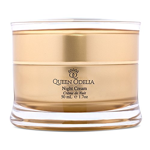 Queen Odelia Anti Aging Moisturizer Night Cream with Cactus Oil, Dead Sea Minerals and Vitamin E, 1.7 oz