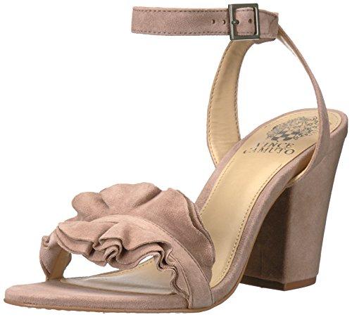 Vince Camuto Women's Vinta Heeled Sandal, Dusty Rose, 10 Medium US - 10 Dusty Rose