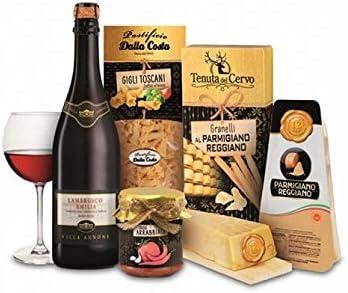 """Confezione regalo Parmigiano Reggiano """"Sapori d'Italia"""", 5 articoli, idea regalo natalizia"""