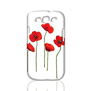 Attractive Red Poppy 3D Rough Case Skin, fashion design image custom, durable hard 3D , Case New Design For Case Samsung Galaxy S4 I9500 Cover , By Codystore