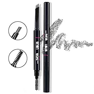 HeyBeauty Eyebrow Pencil with Brow Brush, Waterproof Automatic Makeup Cosmetic Tool, Grey-1#