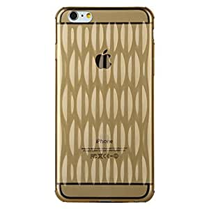 JUJEO BASEUS Air Bag Series Dustproof Translucent Protective Case for iPhone 6 Plus, Gold, Non-Retail Packaging
