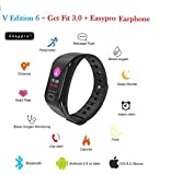 Easypro V Edition -6 Smart Fitness Band Smart Watch Waterproof Bluetooth Fitness Tacker For IOS Android Devices With Easyro Earphone