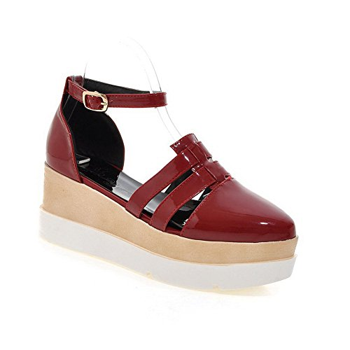 Shoes Travel Womens Cold BalaMasa Red Solid Lining ASL05227 Pumps Urethane IqBB0w