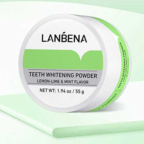 Pearl Essence Teeth Whitening Powder LANBENA, Remove Coffee Wine Tobacco Stains and Freshen Breath, Mint Flavor,No…