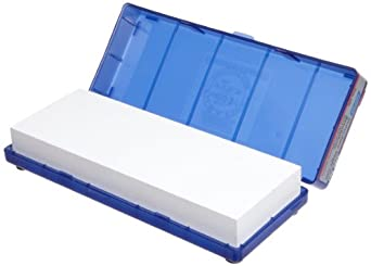 "Norton Waterstone, 4000 grit, 1"" x 3"" x 8"" in Blue Plastic Hinged Box"
