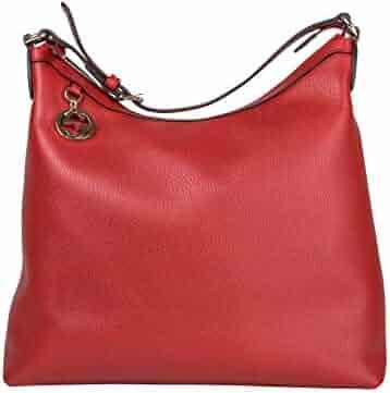 96d3e250dfbf Gucci GG Charm Red Leather Handbag with Adjustable Handle 449711 6420