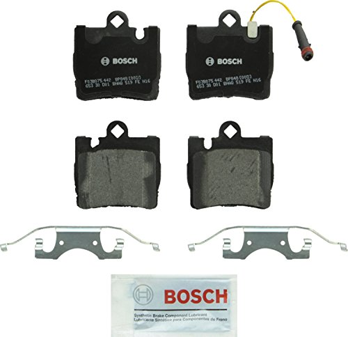 (Bosch BP848 QuietCast Premium Semi-Metallic Disc Brake Pad Set For Select Mercedes-Benz CL500, CL55 AMG, CL600, S430, S500, S55 AMG, S600; Rear)