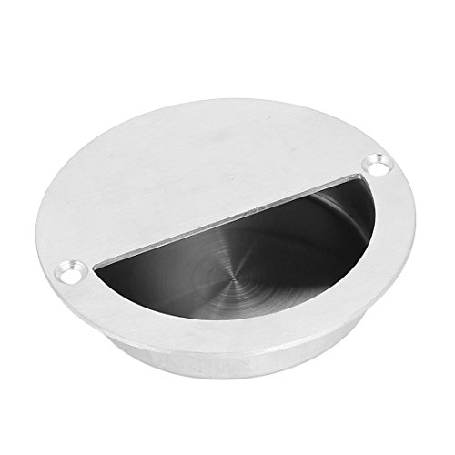 uxcell Sliding Door Drawer 90mm Round Recessed Flush Pull Handle