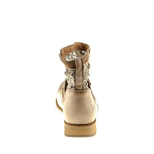Scarpe Da Donna Felmini - Cadono Beja A934 - Cowboy E Stivali Biker Alla Caviglia - Vera Pelle - Multicolore