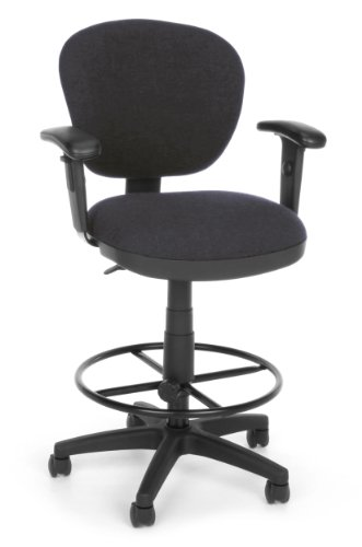 OFM 150-AA-DK-128 Lite Use Computer Task Stool with Arms and Drafting Kit (Drafting Lite Chair Use)