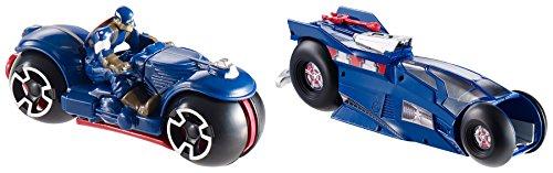 Hot Wheels Marvel Massive Moto Launcher Captain America