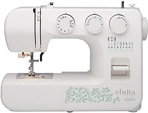 Elnita EM16 máquina de coser mecánica con 16 puntadas y brazo ...