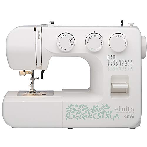 Elnita EM16 Mechanical Sewing Machine with 16 Stitches and Free ...