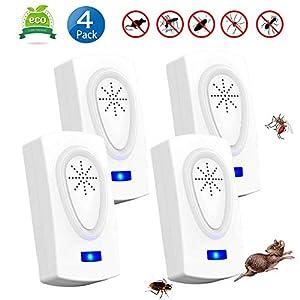 Nitoer Antizanzare Ultrasuoni Repellente Ultrasuoni, Repellente per Insetti Elettrico, Plug-in con Luce Notturna di… 5 spesavip