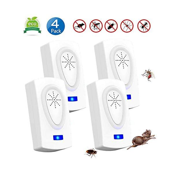 Nitoer Antizanzare Ultrasuoni Repellente Ultrasuoni, Repellente per Insetti Elettrico, Plug-in con Luce Notturna di… 1 spesavip