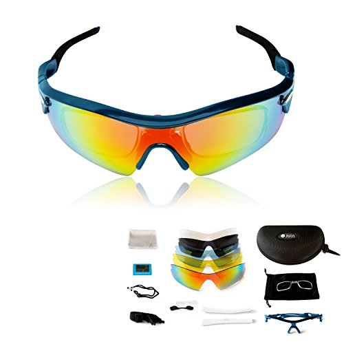 Sports Sunglasses by 3STN -Outdoor Cycling,Running,Ski Sunglasses for Men, - Sports Sunglasses