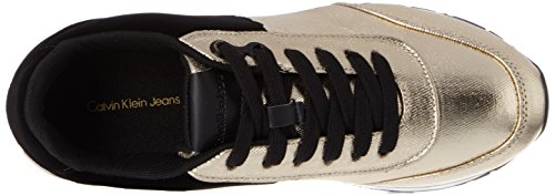 Gold Carlita Black Calvin Sneaker Canvas Klein Flocking Donna Metal Multicolore 5zR8Ozwq