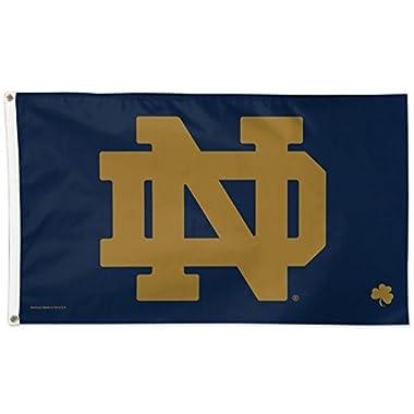 Notre Dame ND Logo w Shamrock NCAA 3 x 5 Ft Deluxe Banner Flag