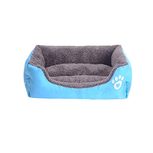 (NEVERLAND003 S-3Xl 10 Colors Paw Pet Sofa Dog Beds Wateroof Bottom Soft Fleece Warm Cat Bed House,A,L 68Cmx55Cmx16Cm)