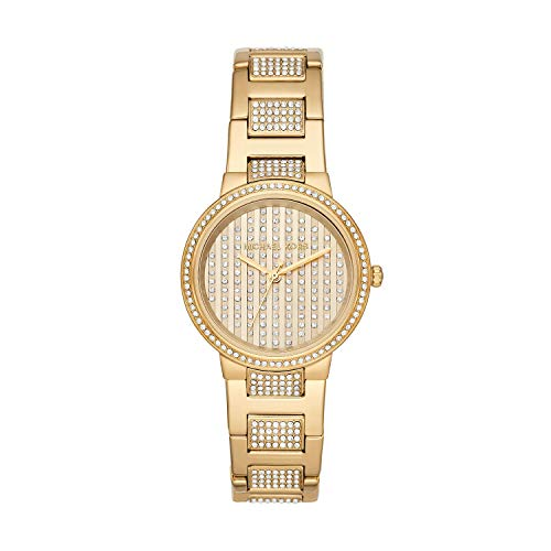 Michael Kors Women's Gabbi Gold Tone Stainless Steel Glitz Watch MK3985