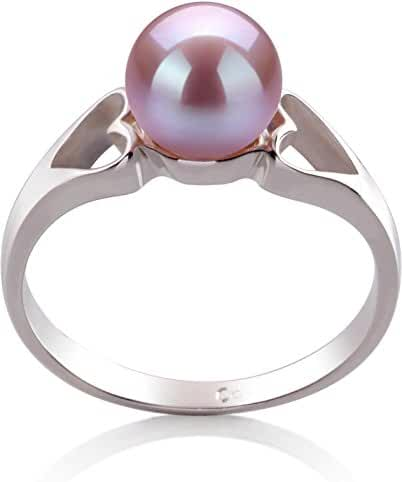 PearlsOnly - Jessica Lavender 6-7mm Freshwater 925 Sterling Silver Cultured Pearl Ring