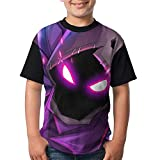 Raven In Cartoon Kid Boy's Girl's Short Sleeve Crew Neck Funny Blouse T-Shirt XS